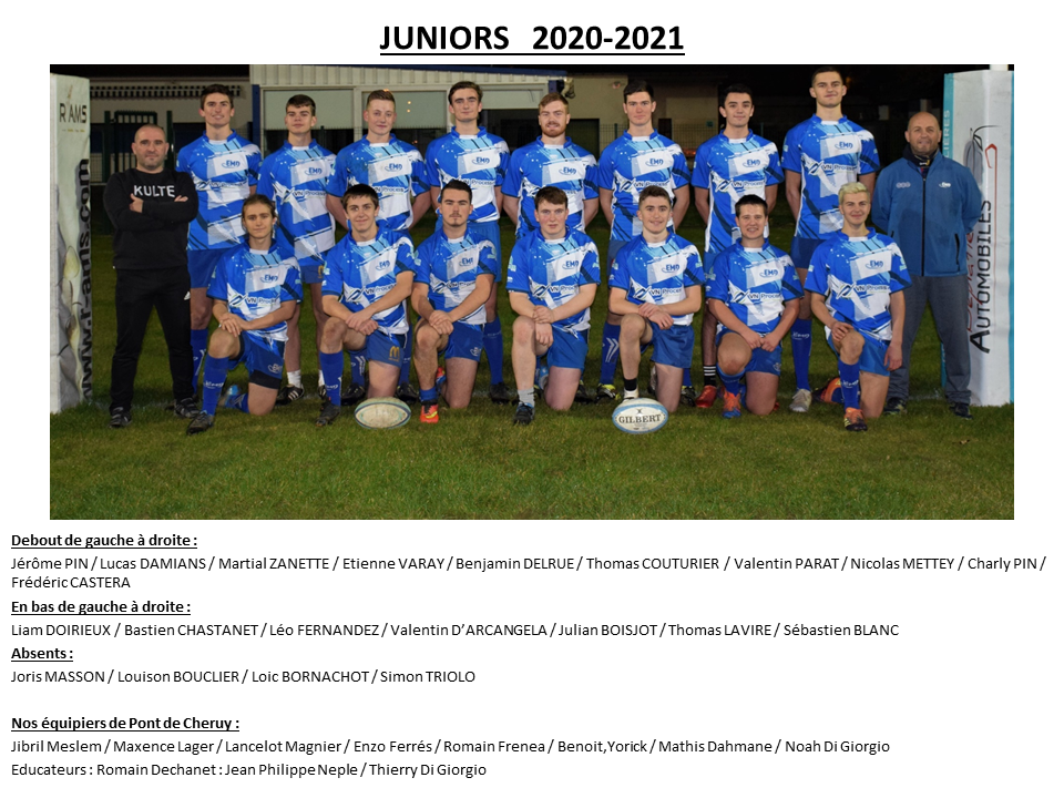 PHOTOS JUNIORS 2020 2021